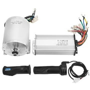 VEVOR 1800W Electric Brushless DC Motor Kit - 48V 5200rpm Brushless Motor with 32A Speed Controller and Throttle Grip Kit for Go Karts E-bike Electric Throttle Motorcycle Scooter
