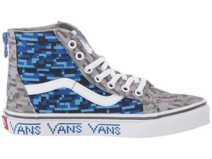 Vans Kids SK8-Hi Zip Skate Sneakers (13
