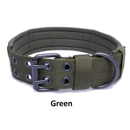 Nylon Dog Training Collar - Tactical Scorpion Gear Dog Collar Canine K9 Training Walking Military- Nylon