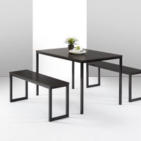 Zinus Louis Modern Studio Collection Soho Dining Table with Two Dining Benches, Multiple Colors
