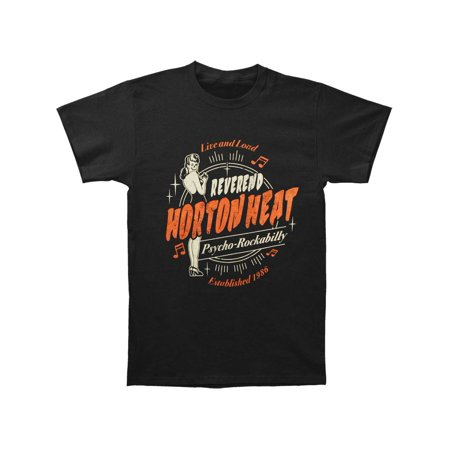 Reverend Horton Heat Men's  Live & Loud T-shirt Black (Reverend Horton Heat T Shirt)