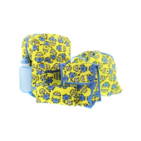 Despicable Me Minions 5 piece Backpack School Set B17DL33117 - Despicable Me Backpack