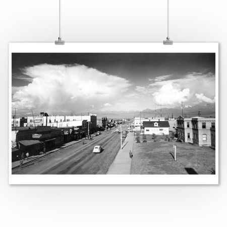 Town View of Anchorage, Alaska Photograph (9x12 Art Print, Wall Decor Travel