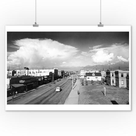 Town View of Anchorage, Alaska Photograph (9x12 Art Print, Wall Decor Travel