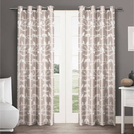 Amalgamated Textiles Nature/Floral Room Darkening Grommet Curtain Panels (Set of 2)