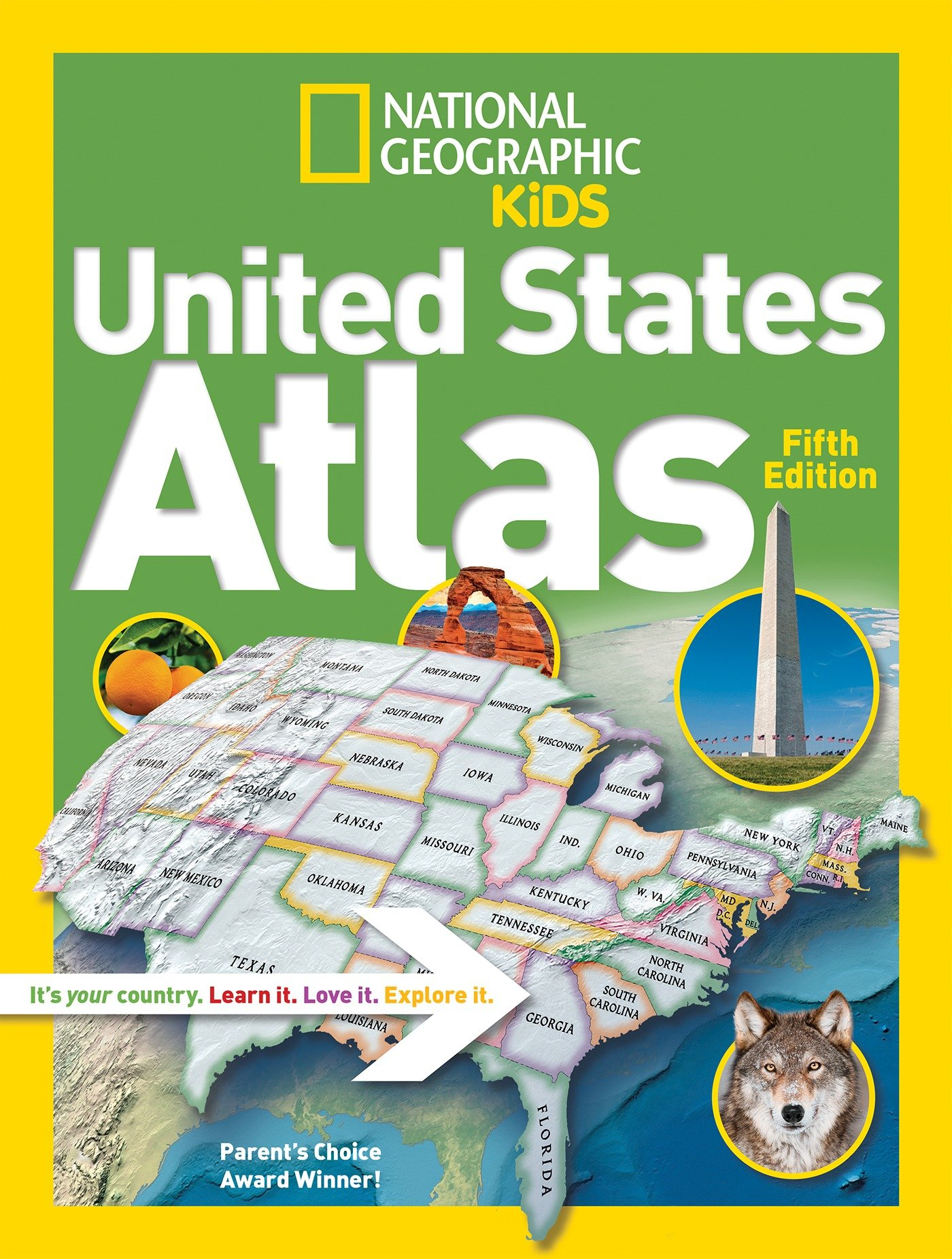 Map Of Georgia For Kids.National Geographic Kids United States Atlas