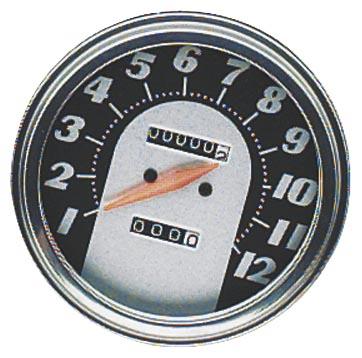 Biker's Choice 73129ABX 5in. FL Type Speedometer