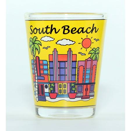 South Beach Florida Hotels Yellow Shot Glass ctm](Yellow Shots)