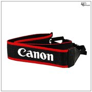 """25.5"""" Inch Canon Black and Red Neck Shoulder Sling Strap with White Lettering for DSLR Cameras by Loadstone Studio WMLS0485"""