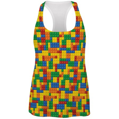 Halloween Building Blocks Costume All Over Womens Racerback Tank - Gym Over Halloween