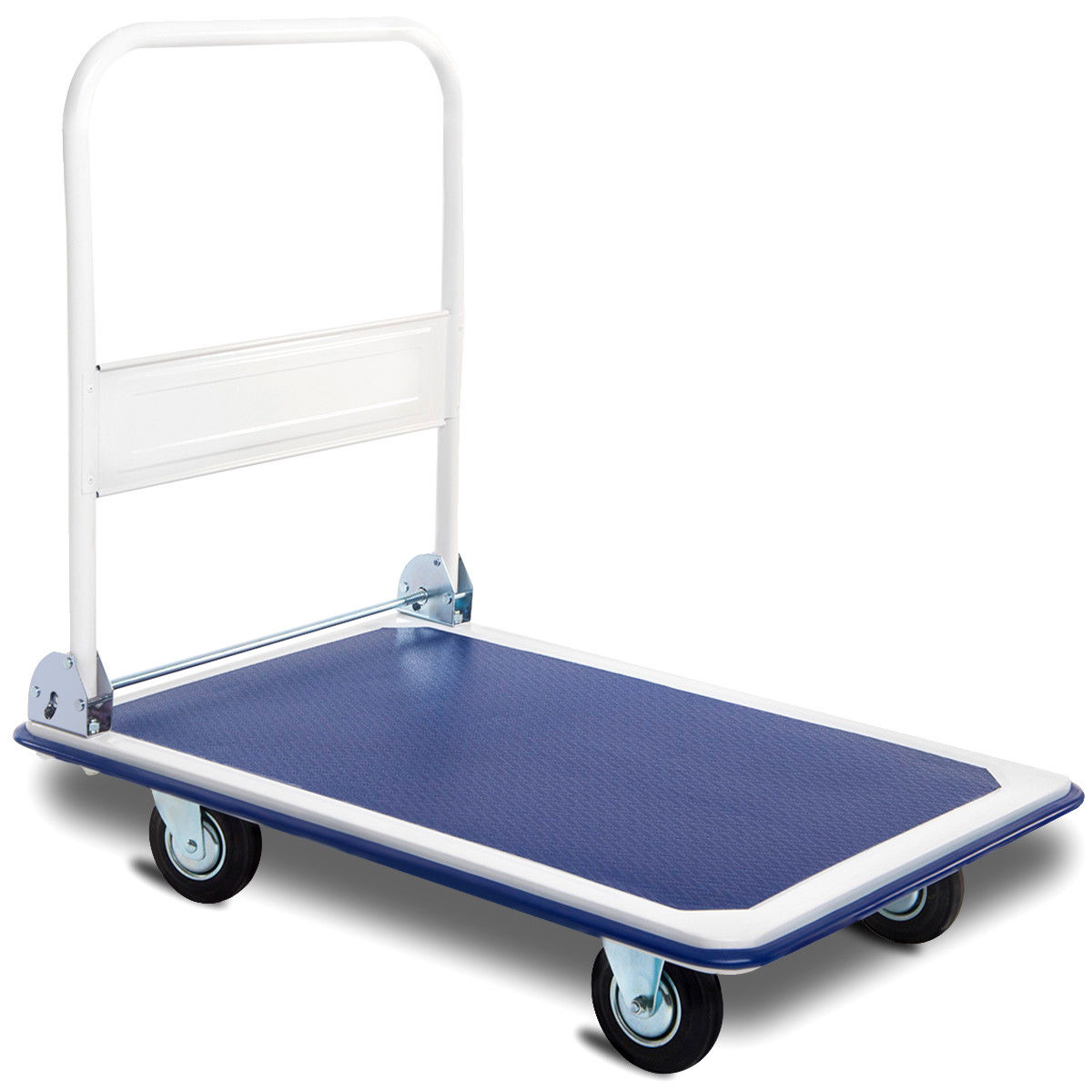 Costway 660lbs Platform Cart Dolly Folding Foldable Moving Warehouse Push Hand Truck by Costway
