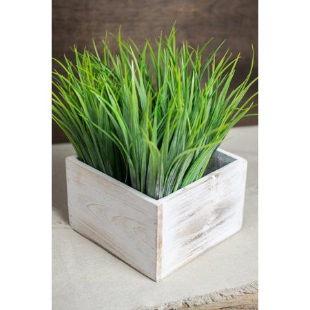 Richland Planter Box Whitewashed Wood Square 6