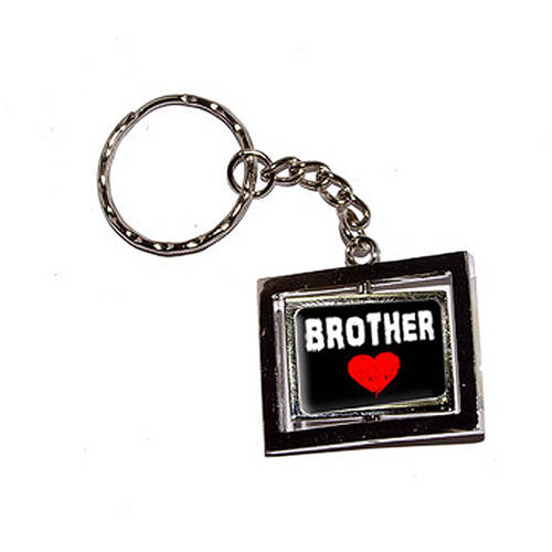Brother Love Red Heart New Keychain Ring