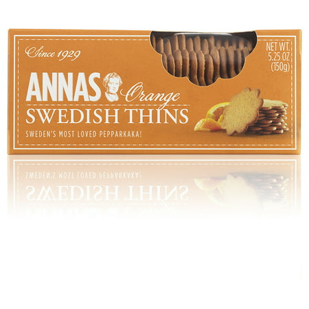 Annas Thins ((3 Pack) Anna's Orange Thins Delicate Swedish Cookies, 5.25 OZ)