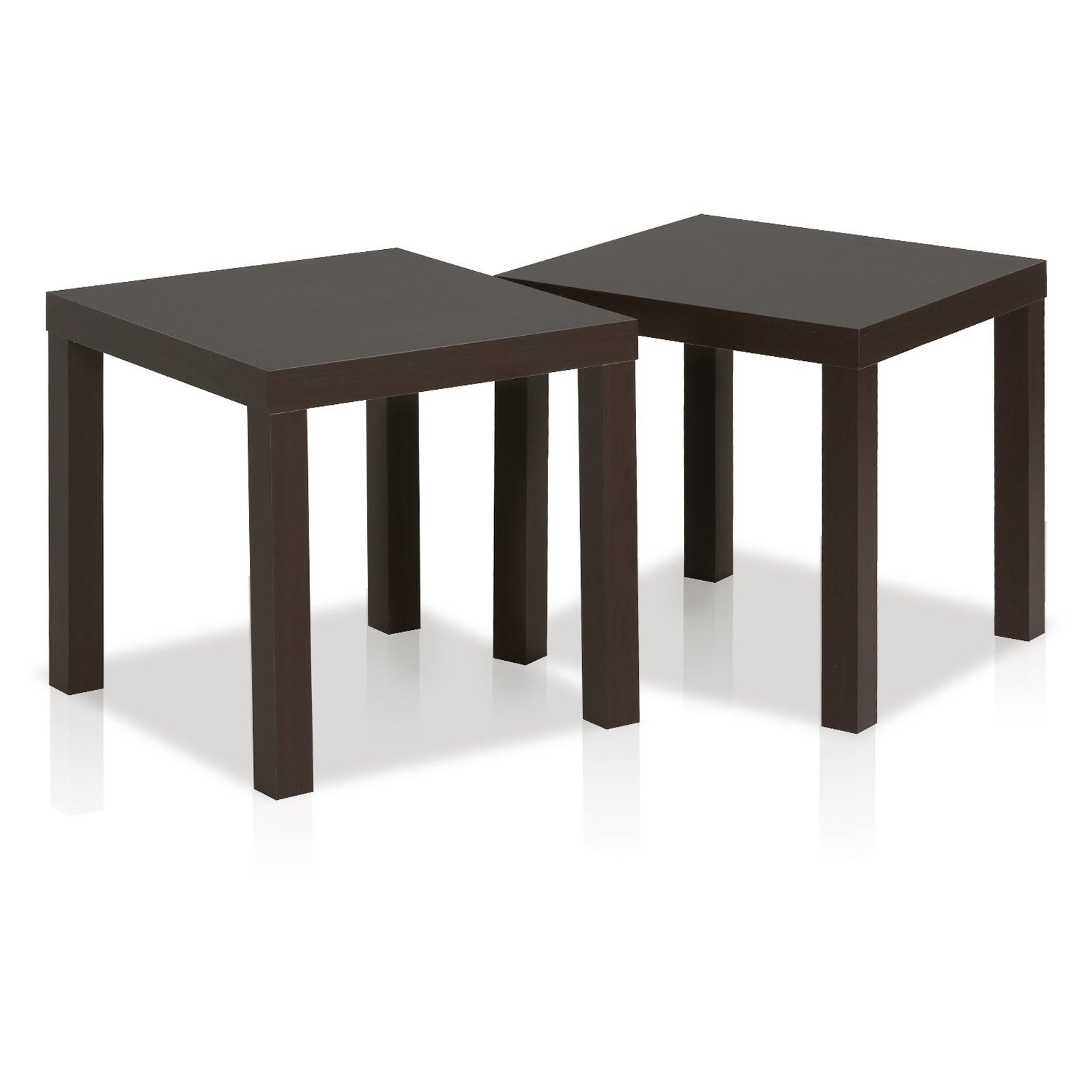 Furinno Classic Cubic End Table, Set of 2, Espresso by Furinno