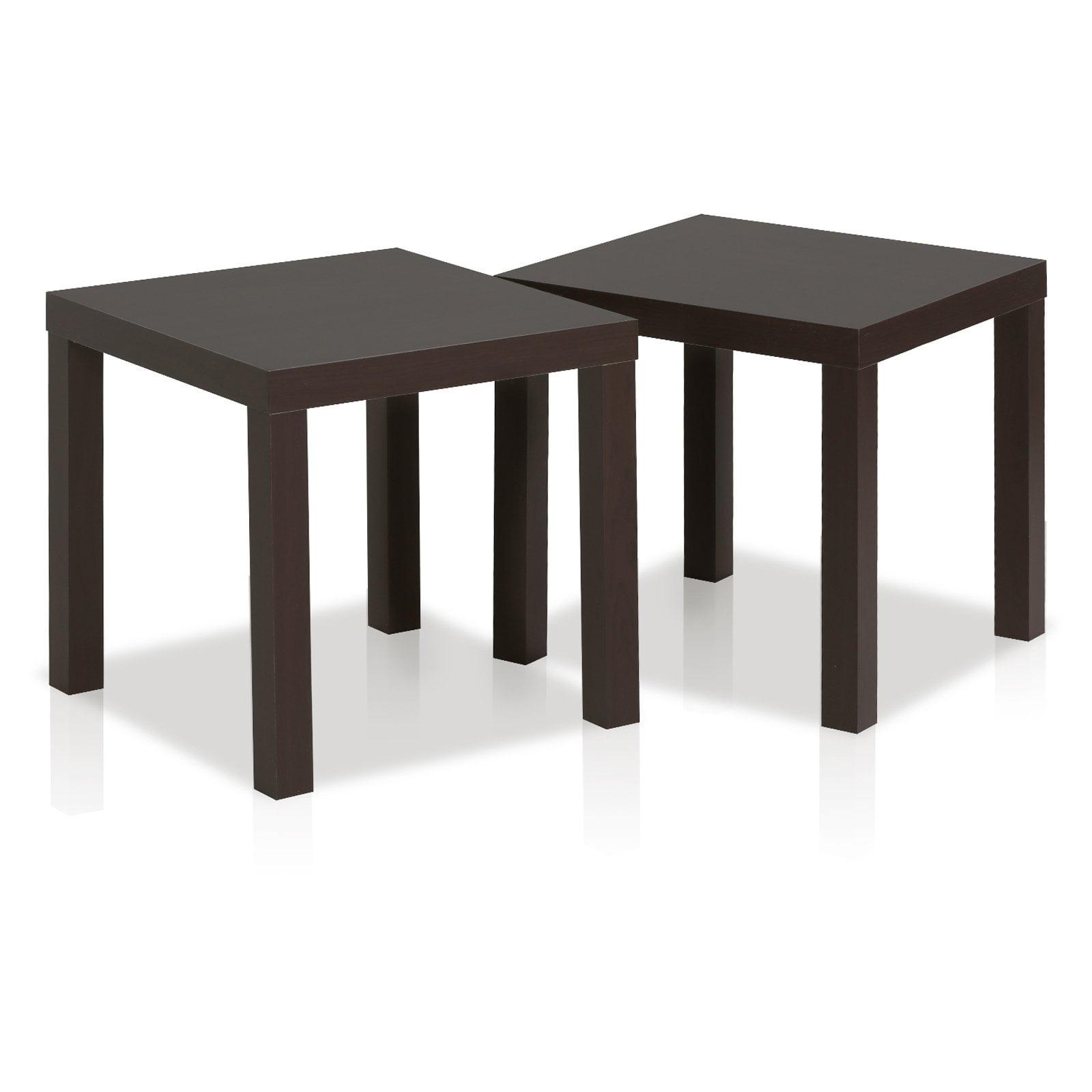 Furinno Classic Cubic End Table, Set of 2, Espresso