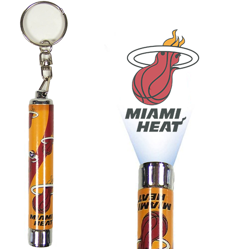 Miami Heat Official NBA  Logo Projection Key Chain by Evergreen