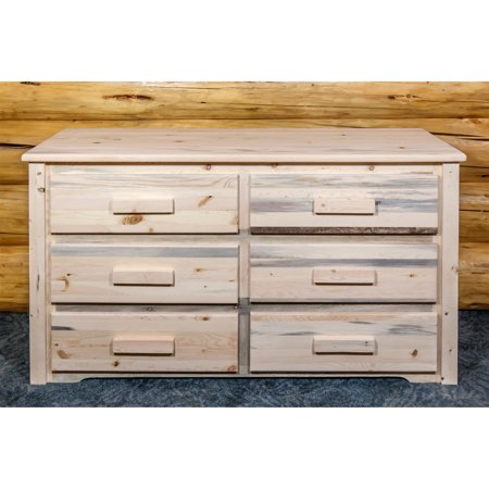 Homestead Collection 6 Drawer Dresser, Clear Lacquer Finish ()