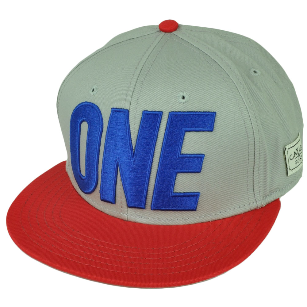 Cayler And Sons One Og Original Gangster Grey Red Snapback Flat Bill Hat Cap
