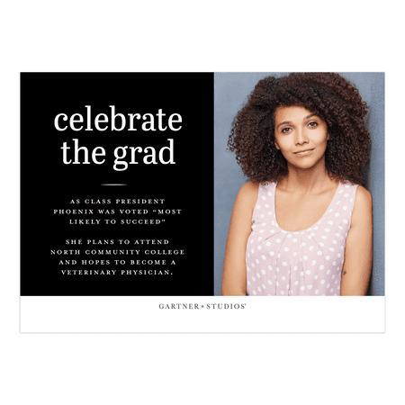 Personalized Graduation Invitation - Simple Style Graduate - 5 x 7 Flat - 50's Style Invitations