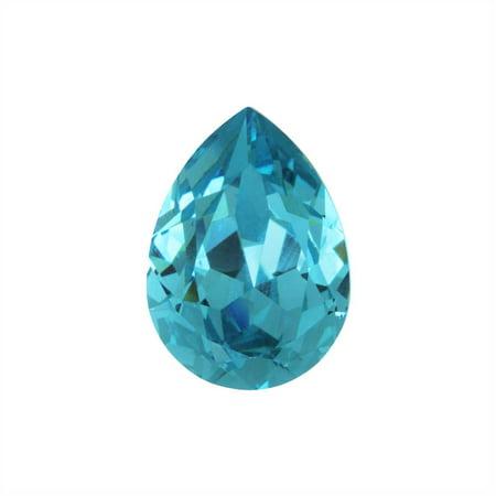 Aquamarine Swarovski Stone (Swarovski Crystal, #4320 Pear Fancy Stone 18x13mm, 1 Piece, Aquamarine F)
