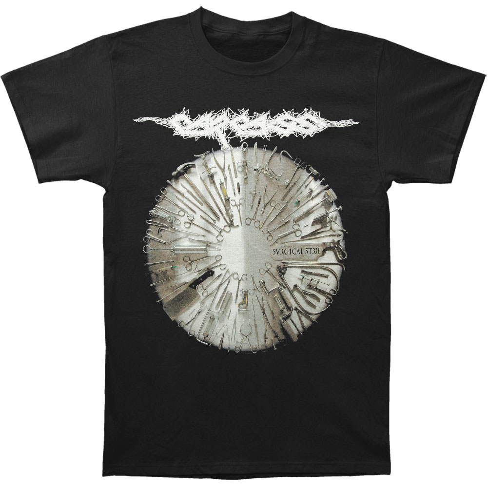 Carcass Men's  Surgical Steel T-shirt Black