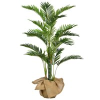 "48"" Tall Palm Tree Artificial Indoor/ Outdoor Faux Dcor with Burlap Kit By Minx NY"