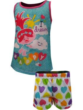 Trolls Girls' Trolls I Dream Happy Shortie Pajama