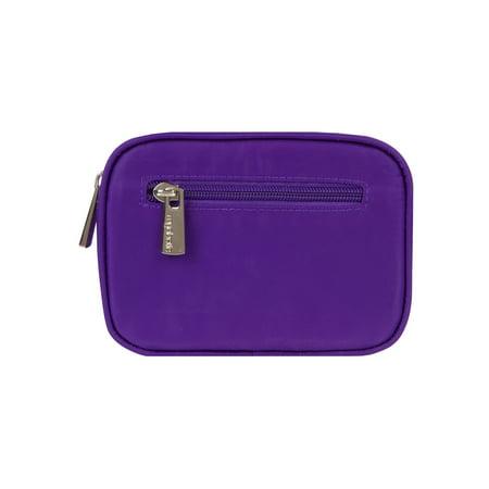 Compact Zip Case (Myabetic Double Zip Compact Travel Case (Purple)