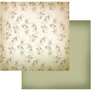 "Vintage Rose Garden Double-sided Paper 12""x12""-vintage Blooms - Case Pack Of 5"