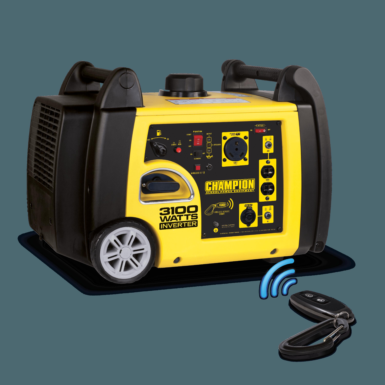 Champion Power Equipment 75537i Inverter Generator with Wireless Remote, 3100 Watt