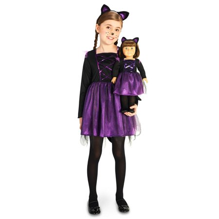 Ballerina Kitty Child Costume with Matching 18 Doll - Kids Ballerina Costume