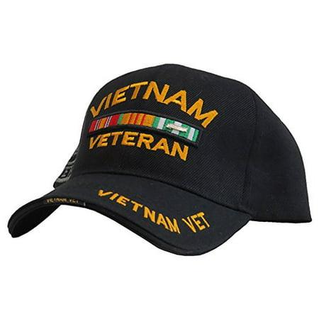 US Honor 3D Embroidered Veteran Vietnam Double/Image Bar Baseball Caps (Mens Hot Images)
