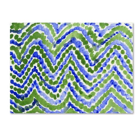 Trademark Fine Art 'Blue Beads' Canvas Art by Fernanda Franco