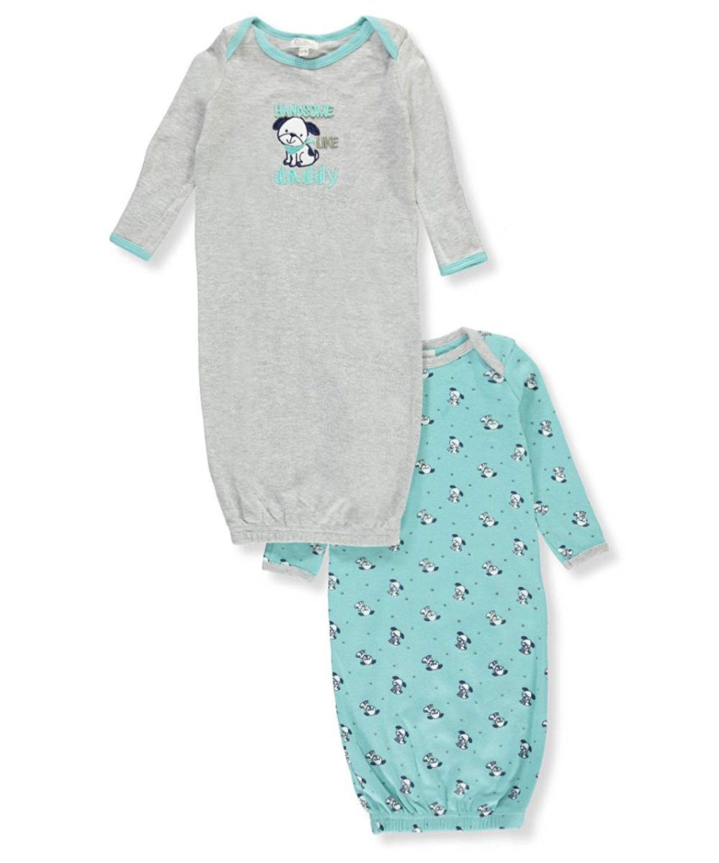 Newborn Baby Boy Sleep Gowns, 2-pack