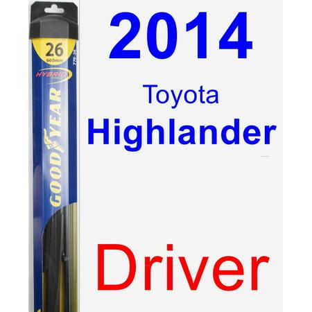 2014 Toyota Highlander Driver Wiper Blade - Hybrid