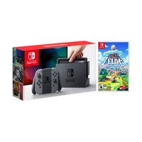 Nintendo Switch Gray Joy-Con Console Bundle with The Legend of Zelda: Link's Awakening NS Game Disc - 2019 New Game!