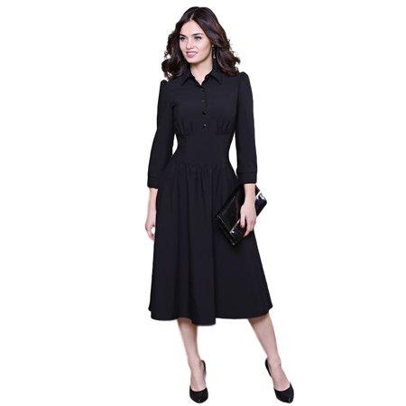 Vintage Style A-line Dress - image 3 de 5