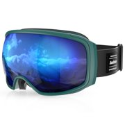 JUST FOR U CLEARANCE Outdoor Cycling Protective Goggles Bendable Windproof Sports Ski Glasses Fog-proof Skiing Goggles with Elastic Headband