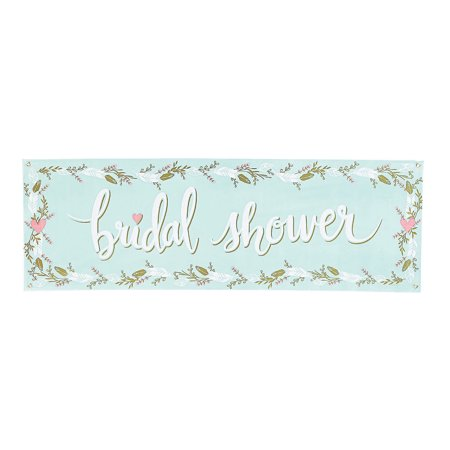 Fun Express - Mint To Be Bridal Shower Banner (5ft) for Wedding - Party Decor - Banners - General Banners - Wedding - 1 (Fun Places To Have A Bridal Shower)