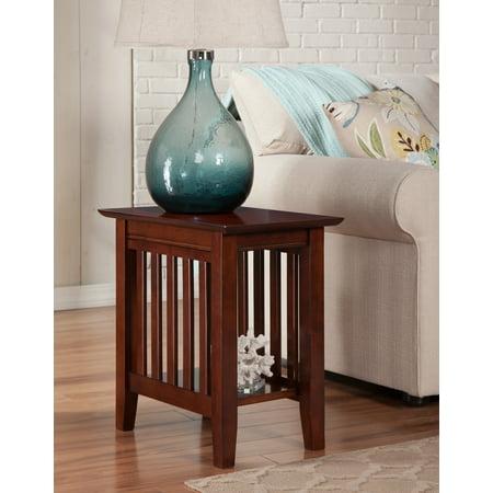 Mission Chair Side Table in Walnut or Caramel - Mission Walnut Wood