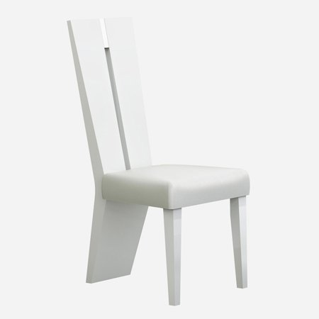 Astounding American Eagle Furniture Weston White Lacquer Dining Chair Set Of 2 Creativecarmelina Interior Chair Design Creativecarmelinacom