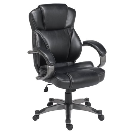 Black Executive Chair with Graphite Finished -