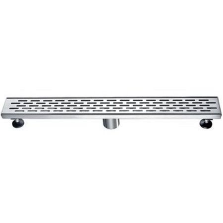 24 in. Long Modern Stainless Steel Linear Shower Drain with Groove Holes - image 1 of 1
