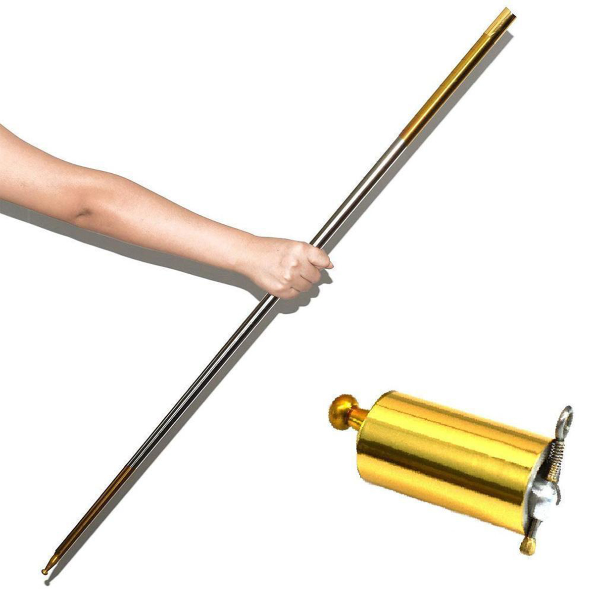 Pro Magic Pocket Staff Portable Martial Arts Metal Bo Staf 150CM Party Game Gift