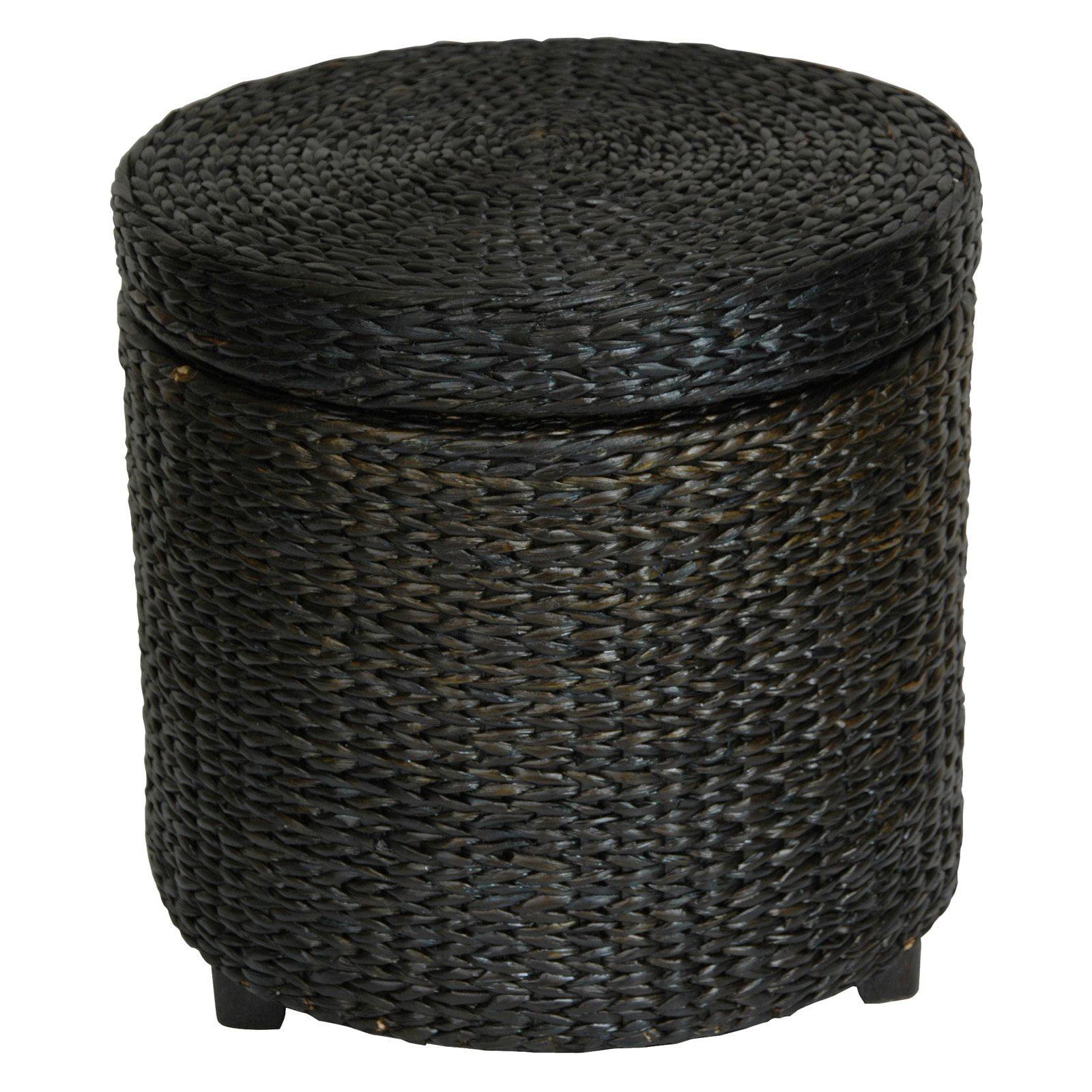 Rush Grass Storage Footstool