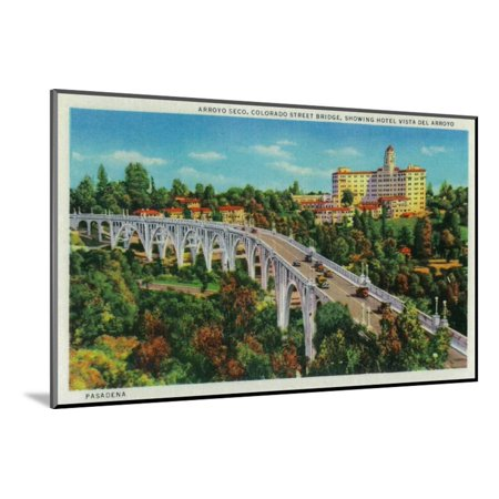 Arroyo Seco Bridge, Colorado Street Bridge - Pasadena, CA Wood Mounted Print Wall Art By Lantern Press
