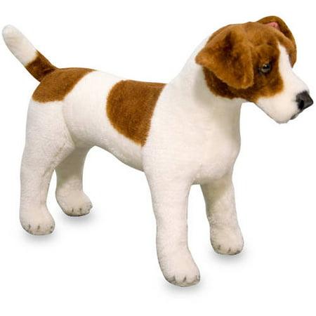 "Melissa & Doug Giant Jack Russell Terrier, Lifelike Stuffed Animal Dog, over 12"" tall"