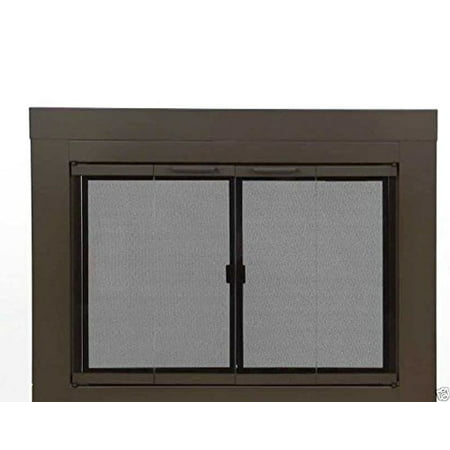 Pleasant Hearth Glass Fireplace Door Abberly Bronze Small Ab 1050