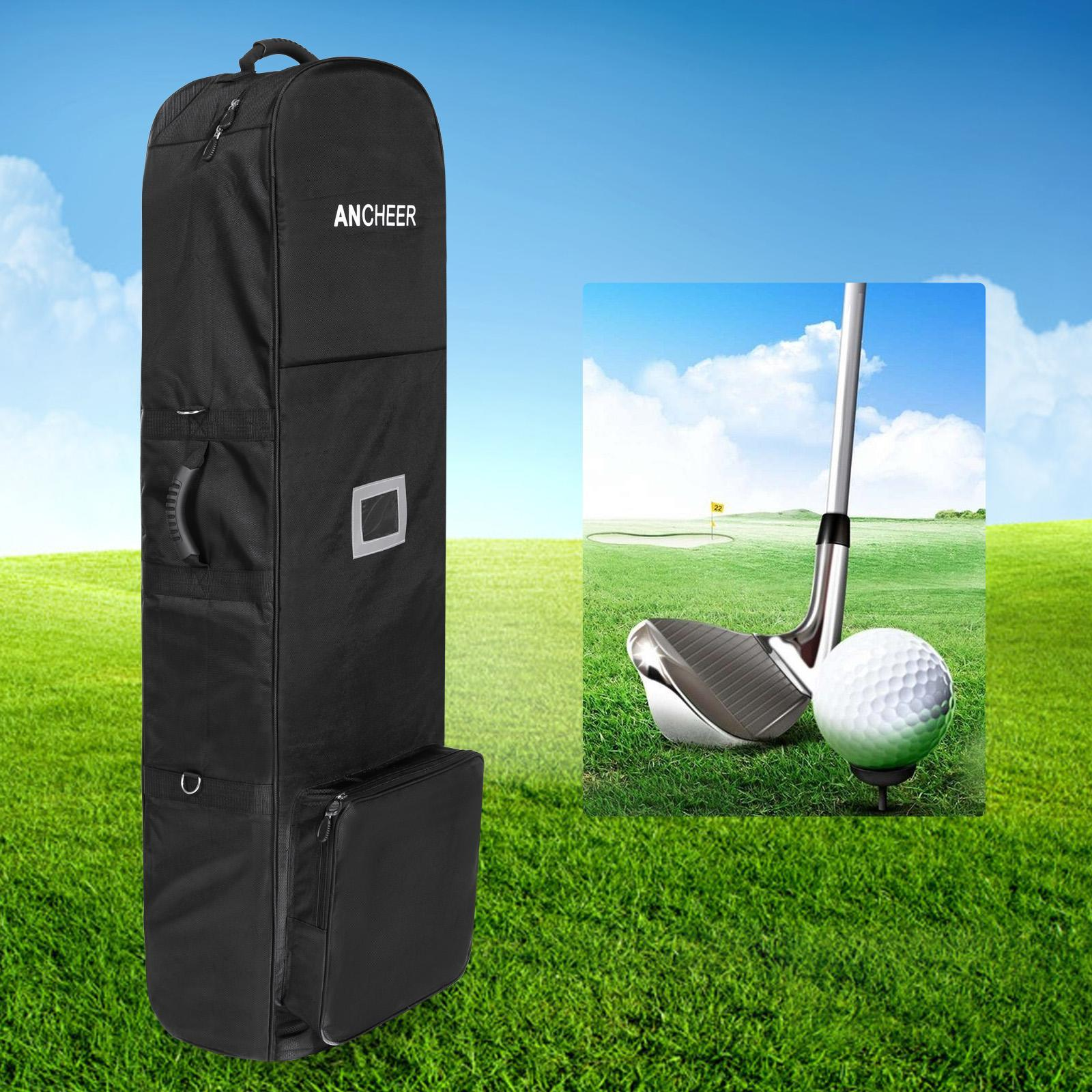 Foldable Club Golf Bag Outdoor Travel Golf Cart Bag Cover With Wheel ROJE
